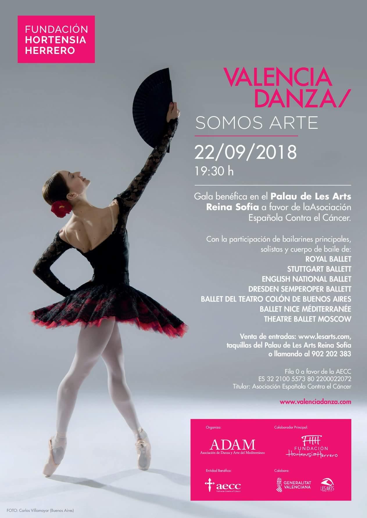 La AECC Valencia celebrará la gala benéfica \'Valencia Danza \'Somos ...